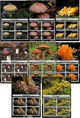 Mushrooms Molds 8 S/sheets Mnh Imperforated
