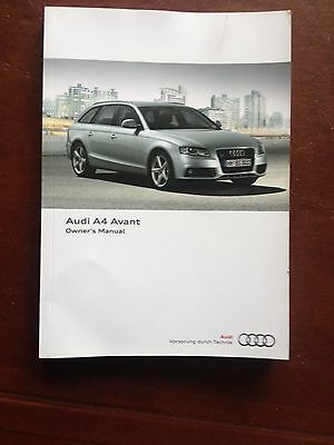 Audi A4 Avant Handbook  Owners Manual  2008 2011   257 Pages