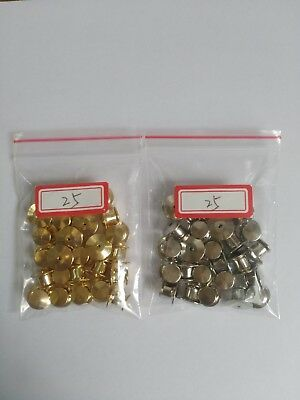 50pcs total gold silver each 25pcs locking pin keeper back for organization army