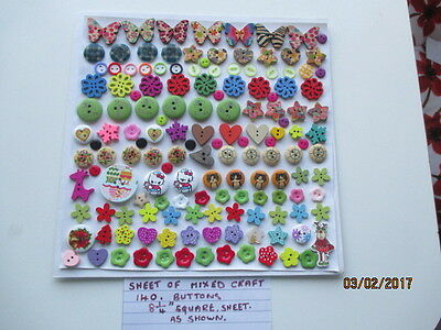 A lovely Assortment of odd buttons for crafting as shown