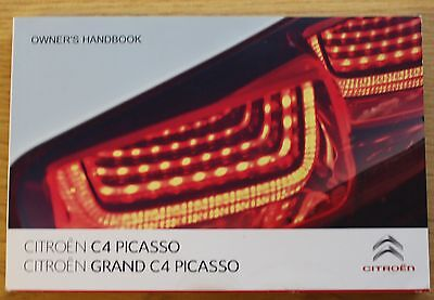 Citroen C4 Picasso Grand Picasso Owners Manual Handbook 2013-2016 Book