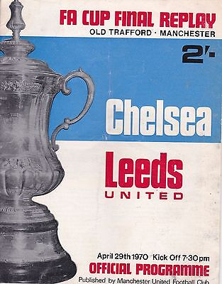 CHELSEA v LEEDS UNITED ~ FA CUP FINAL REPLAY AT MANCHESTER UNITED 29 APRIL 1970