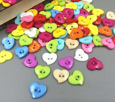 100-1000 Pcs Mixed Flower resin button fit Sewing and Scrapbooking 13mm