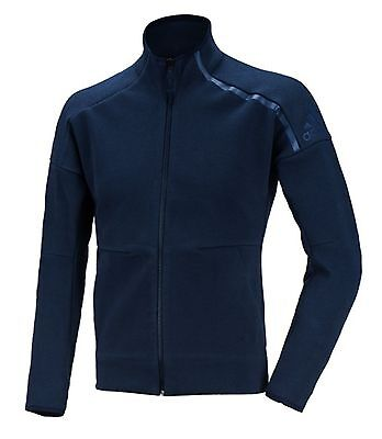 6ad37929d46a Adidas Men ZNE Knit Track Top Jacket Sports Training Football Navy Jersey  S94817