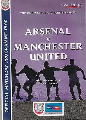 ARSENAL v MANCHESTER UNITED CHARITY SHIELD ~ 1 AUGUST 1999 ~ EXCELLENT CONDITION