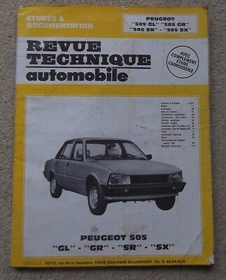 Peugeot 505 Workshop Manual (In French)