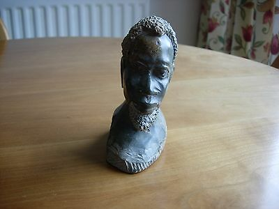 South African Elder Tribesman Bust in Stone/Marble