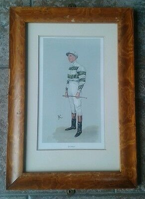 Vanity Fair Framed Print Jockey J. E. Watts RARE