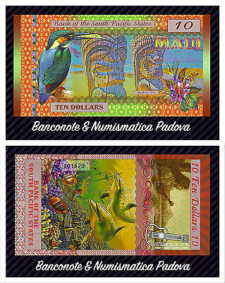 Banconota South Pacific States, $10    2015, Polymer, UNC  - FDS -
