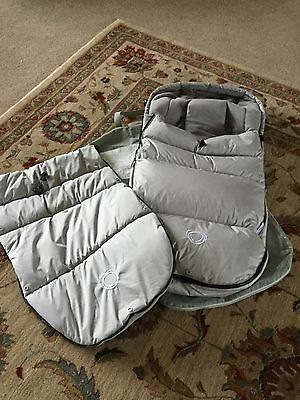 Bugaboo High Performance Footmuff In Arctic Grey 2 Toppers Brand New In Bag £119