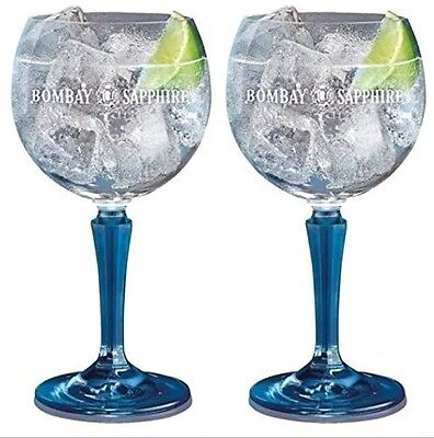 2 Bombay Sapphire Balloon Glasses. Gift Boxed. Bar Gift Gin Glass