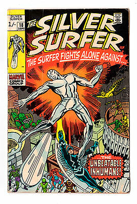 SILVER SURFER #18 (Jack Kirby) scarce 1970 (Last issue)