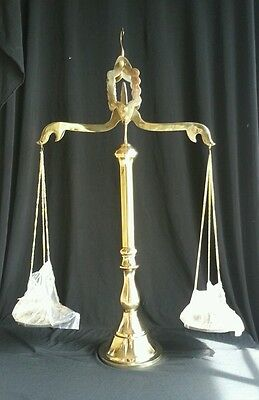 Solid Brass Scale, Justice, Lawyer, Legal, Decor