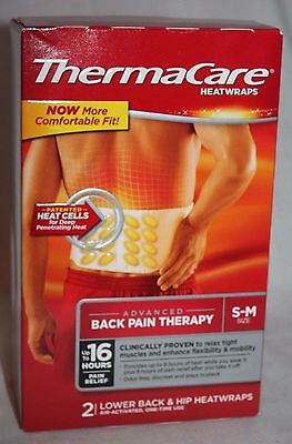 Thermacare Advanced Pain Therapy Lower Back & Hip Heatwraps Size S-M 2 ct. 2017