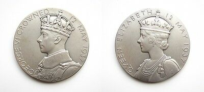 GEORGE VI 1937 CORONATION LARGE SILVER MEDAL - 56mm - IN ORIGINAL RM CASE