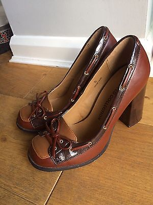 1930's/1940's Vintage Style Shoes Brown Size 5