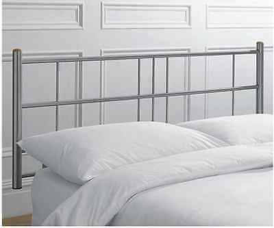 4ft6 Double Metal Headboard for Bed in Alloy finish BRAND NEW