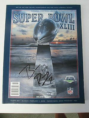 Super Bowl XLIII Game Program Autographed by Ben Roethlisberger Pitts Steel (16)