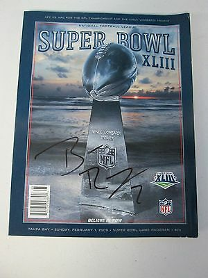 Super Bowl XLIII Game Program Autographed by Ben Roethlisberger Pitts Steel (1)