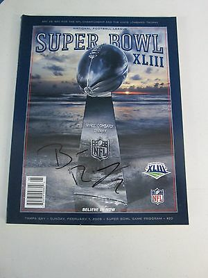 Super Bowl XLIII Game Program Autographed by Ben Roethlisberger Pitts Steel (9)
