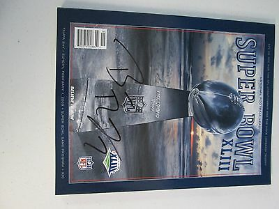Super Bowl XLIII Game Program Autographed by Ben Roethlisberger Pitts Steel (8)