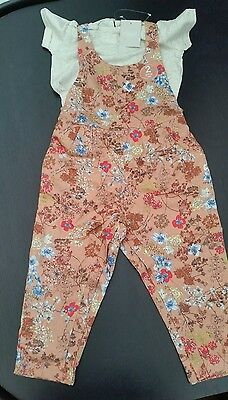 NEXT BNWT Baby girl playsuit & t-shirt size 18-24 months