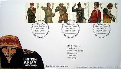 ROYAL MAIL FIRST DAY COVER 'British Army Uniforms'
