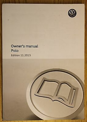 Genuine Vw Polo Mk5 Handbook Owners Manual Wallet 2014-2017 Book