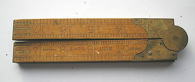 Vintage Boxwood/brass   Imperial Carpenter/joiners Rule  Rabone 1380 Used Lot 17
