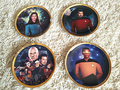 Collection of 4 Star Trek Next Generation Limited Edition Hamilton Plates