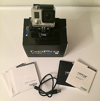 GoPro HERO3+ SILVER Action Camera w/ Waterproof Case/Battery And Charger