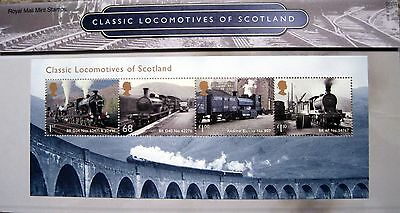 ROYAL MAIL MINT STAMPS 'Classic Locomotives of Scotland'