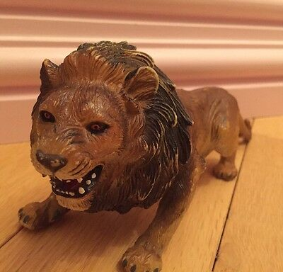 Vintage AAA Toy Male Lion Wild Animal Replica Figure