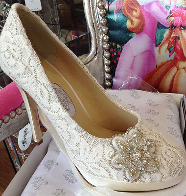Bridal Shoes, By Rainbow Club, Strarry Eyed, Ivory