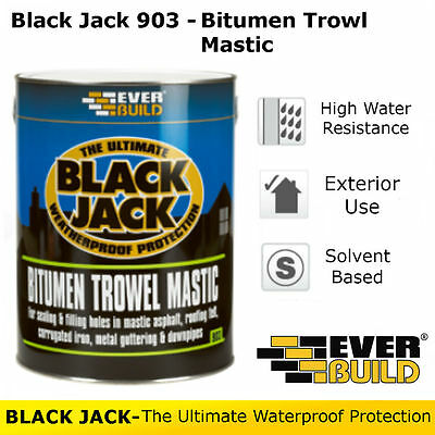 903 Bitumen Trowel Mastic | Everbuild Black Jack | Weatherproof Protection