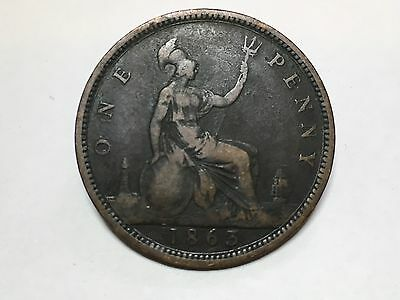 1863 Victoria One Penny