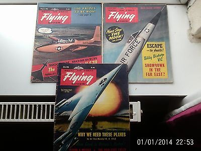 1957/8 VINTAGE  R A F  FLYING REVIEW  (3 issues ) July /August/December (1x 57)