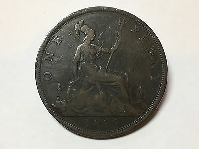 1889 Victoria One Penny