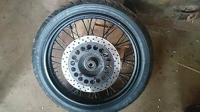 "Yamaha XV 650 XVS Wheel. 18"". Front. With Tyre and Disc. 17mm spindle"
