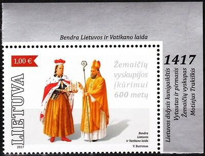 LITHUANIA 2017-04 Religion: Diocese of Zemaitija - 600. Joint Vatican, MNH