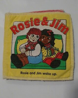 Rare rosie and jim vintage cloth soft book baby toddler 80s 90s tv ragdoll.