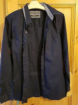 boys NEXT navy shirt age 10-11 new without tags