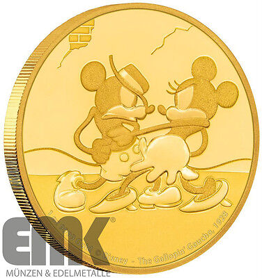 Niue - 250 Dollar 2017 - Gallopin Gaucho - Mickey Mouse Disney - 1 Unze Gold PP