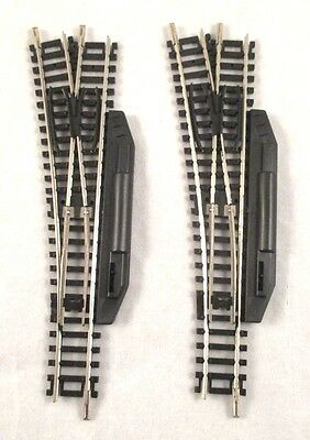 2 Roco Manual Left Hand Points - N Gauge