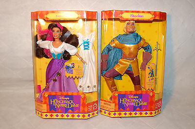 The Hunchback of Notre Dame Esmeralda & Phoebus Disney Barbie Doll New 1995