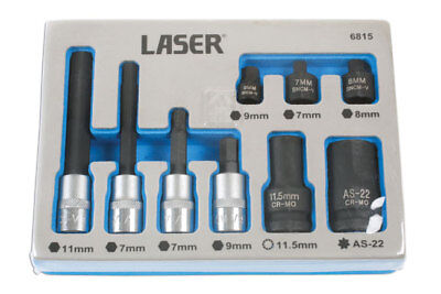 Laser Tools 6815 Brake Caliper Socket and Bit Set - German vehicles
