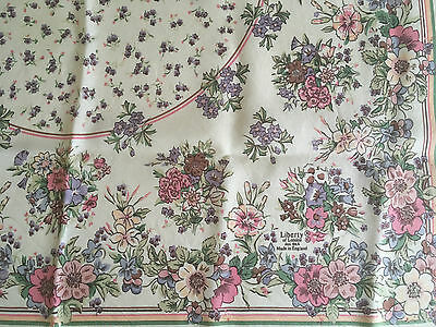 Vtg Liberty Of London Delightful Floral Silk Scarf