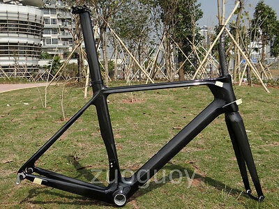3K Carbon Glossy Cycling Road Bike Frame 50cm Bicycle Fork + Seatpost + Clamp