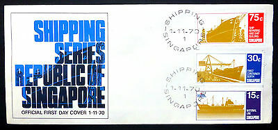 SINGAPORE 1970 Shipping (3) on OFFICIAL FDC WX294
