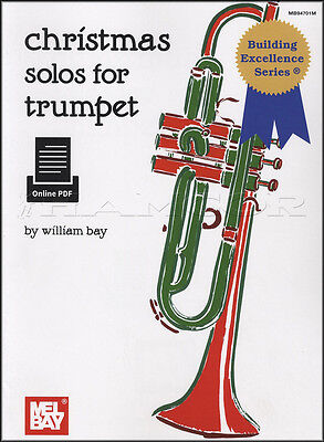 Christmas Solos for Trumpet Sheet Music Book Level 1 Mel Bay William